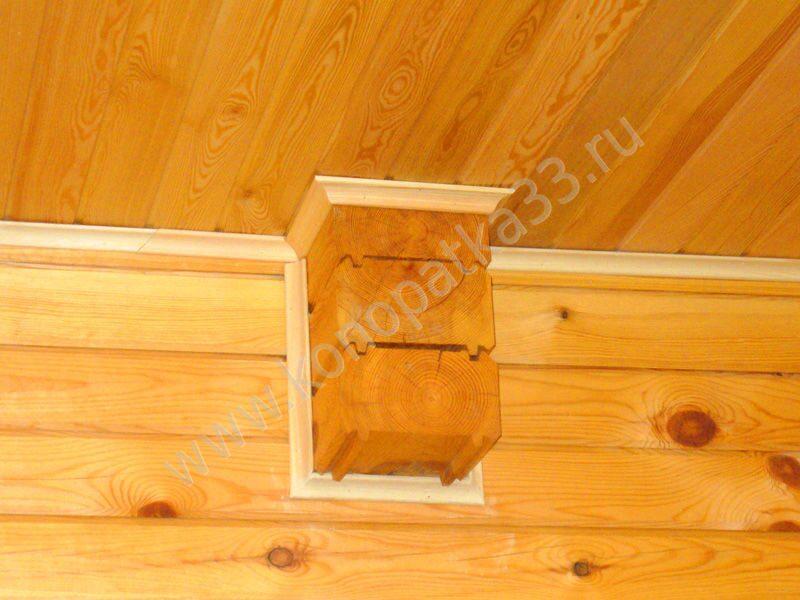 Деревянный плинтус для потолка своими руками
