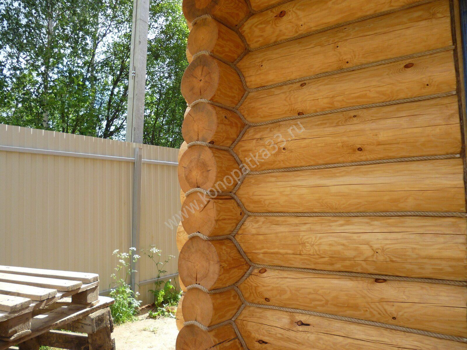 Наружная отделка бревенчатого дома своими руками